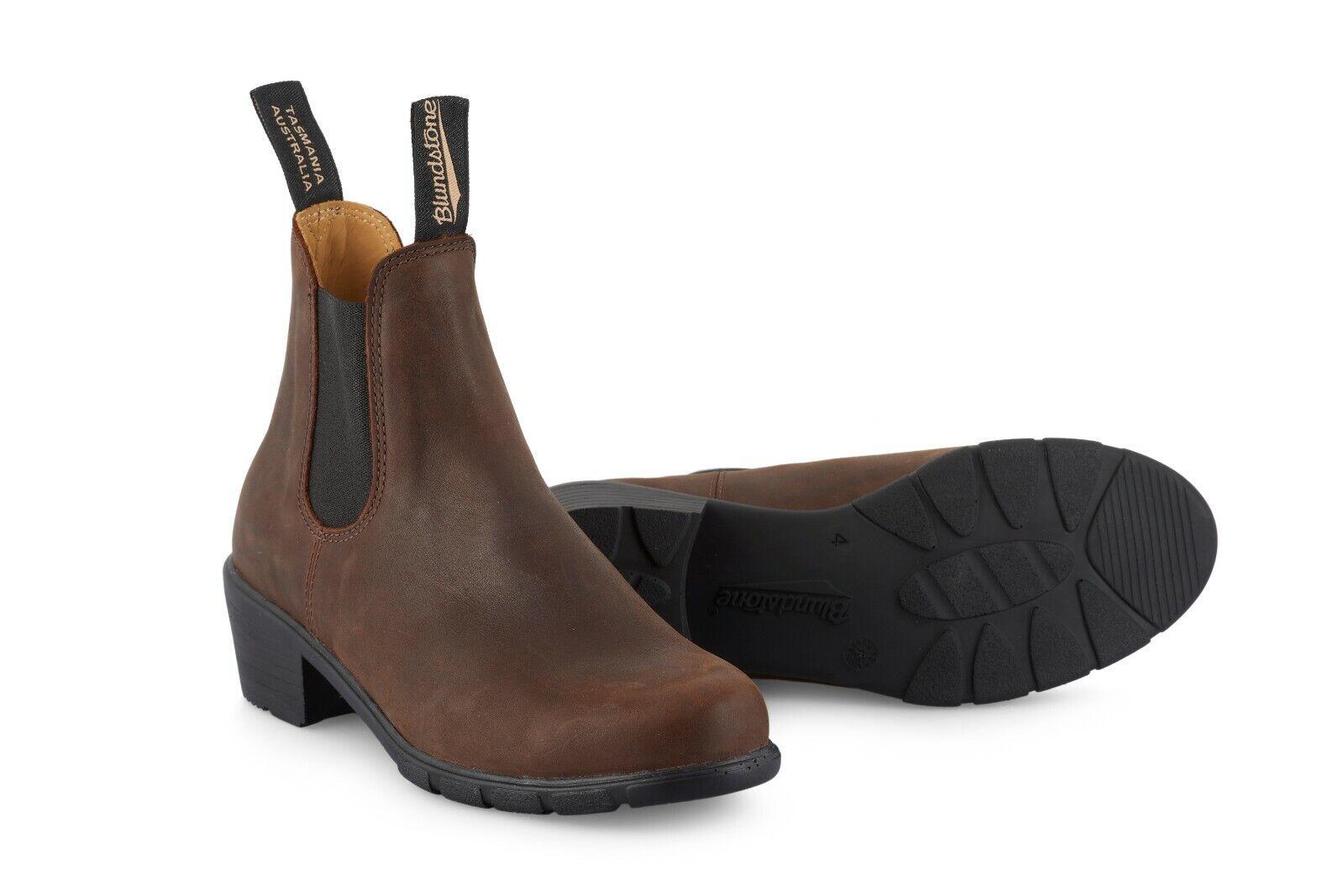 vendita online Ladies Blundstone 1673 Antique Marrone Leather Chelsea Dress Heeled Heeled Heeled Ankle avvio  distribuzione globale