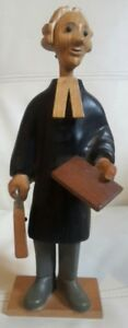 Romer-hand-carved-wood-figure-barrister-judge-magistrate-lawyer-made-in-italy