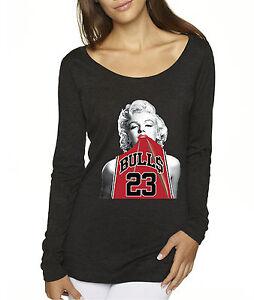 260152db0b79 New Way 419 - Women s Long-Sleeve Marilyn Monroe Bulls Michael ...