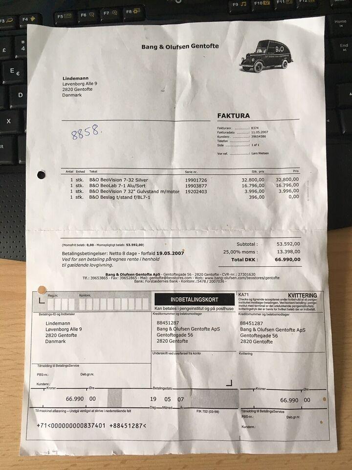 andet, Bang & Olufsen, BeoVision 7-32