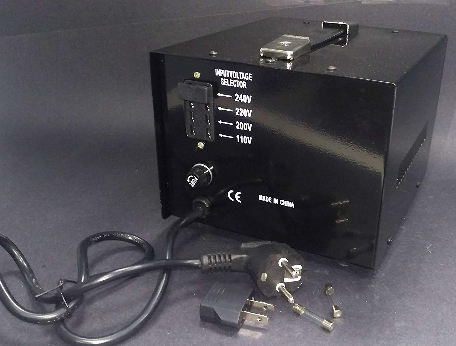 1000 watt Step Up Step Down Voltage Transformer Converter With Fuse Protection -