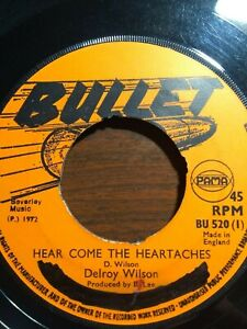 Delroy-Wilson-Hear-Come-The-Heartaches-7-034-Vinyl-Single-1972-UK-COPY