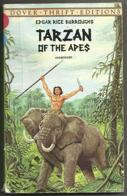 1997 Tarzan Of The Apes Edgar Rice Burroughs Paperback Book Dover Unabridged