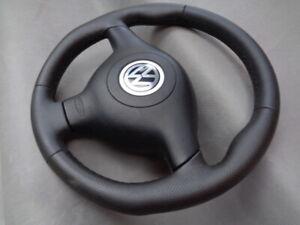 VW-GOLF-4-IV-PASSAT-3B-BORA-Leder-Lenkrad-Lederlenkrad-GTI-R32-steering-wheel