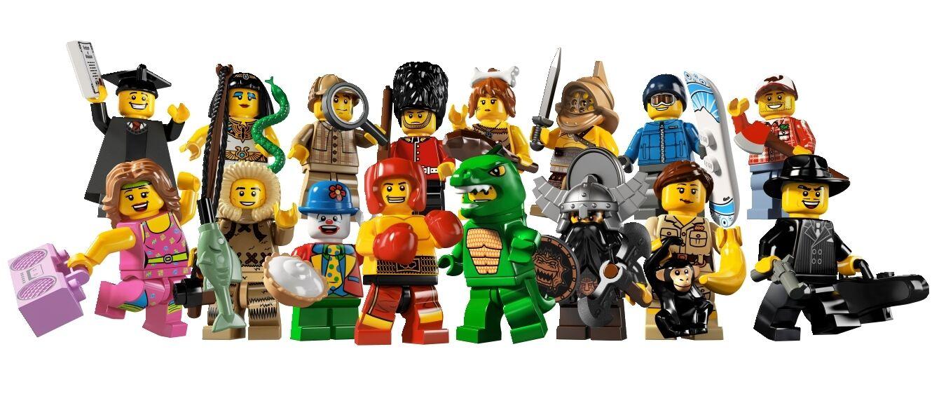 LEGO® Minifiguren 8805 Serie 5 der ganze Satz - alle 16 Figuren