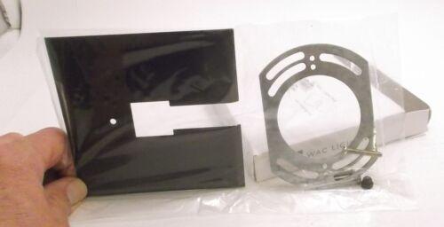 Prepaid Shipping WAC CP-DB Canopy Plate Two Circuit Track Dark Bronze