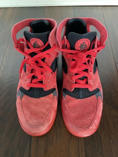 Nike Air Huaraches Red with Black Mens Size 10