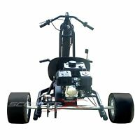 Fast Adult Big Wheel Atv Go Kart Disk Brake Automatic 6.5 Hp Engine Steel