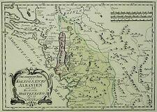 ALBANIEN & MONTENEGRO - Königreich Albanien - Reilly - kolorierte Karte 1789