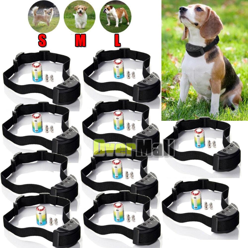 Dog Bark Collar Training Electric Shock & Sound Anti Barking Small Large Medium