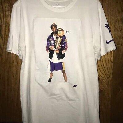 Kobe Bryant GOAT Trophy Photo Retirement T-Shirt 24 custom RARE NEW LAKERS MEN