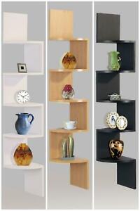 2-3-5-Tier-Lucca-Wall-Mount-Corner-Shelf-Shelves-Storage-Rack-Display-Shelving