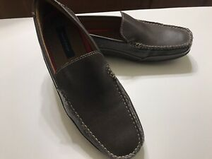 Tommy-Hilfiger-Mens-Dathan-Medium-Brown-Loafers-Size-11