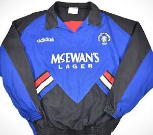1994-1995 GLASGOW RANGERS ADIDAS FOOTBALL DRILL TOP (SIZE M)