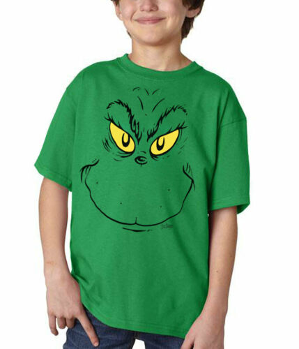 Seuss Grinch Face Youth T-Shirt Dr