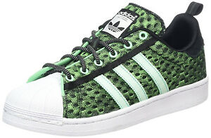 super popular 4ca97 6ebee Image is loading ADIDAS-SUPERSTAR-GID-LOW-SNEAKERS-MEN-SHOES-GREEN-