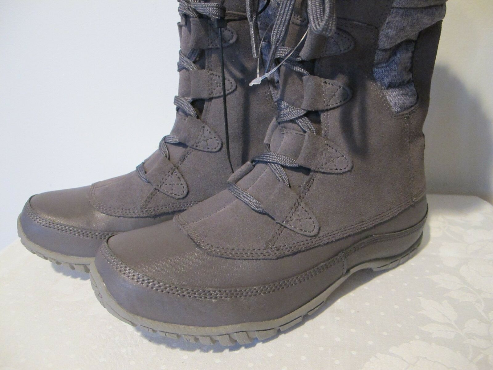 The North Face authentically Damens's gray waterproof winter lace-up New boot boot New  7 541967