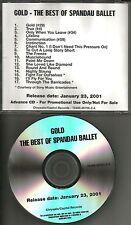 SPANDAU BALLET Gold best Of 2001 Ultra Rare TST PRESS ADVNCE PROMO CD USA MINT