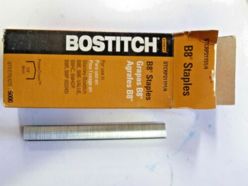 """Stanley Bostitch B8 Staples 1//4/"""" 5,000//box STCRP21151//4 New pack of 4"""