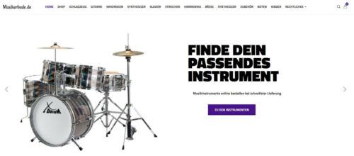 Wordpress Webshop für Musikinstrumente und Zubehör 1206 Instrumente online
