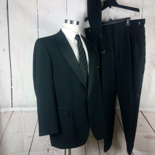 Palm Beach Formal Wear 46L 1 Button Black Tuxedo 2