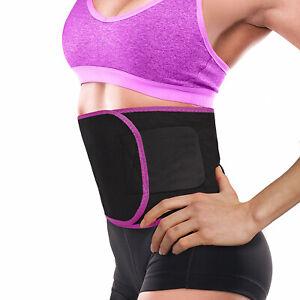 Waist Trimmer Belt Sweat Wrap Tummy Stomach Weight Loss Fat Burner Men Women