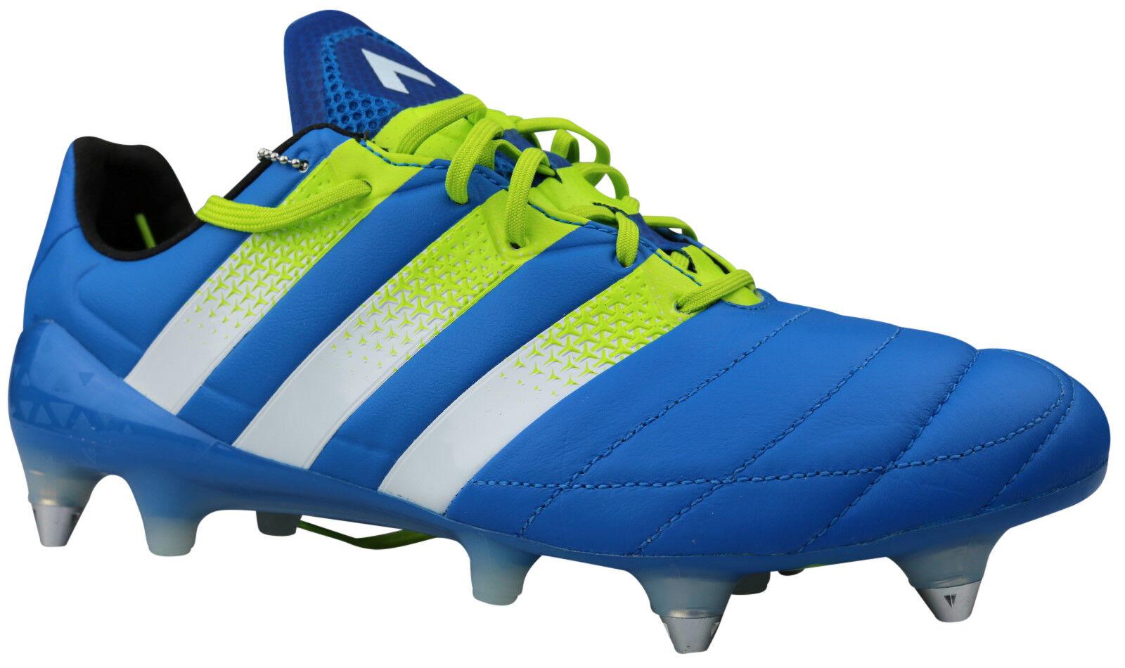 Adidas Ace 16.1 sg botas de  fútbol s32066 cuero galerías azul Gr. 42 nuevo embalaje original  precios bajos todos los dias
