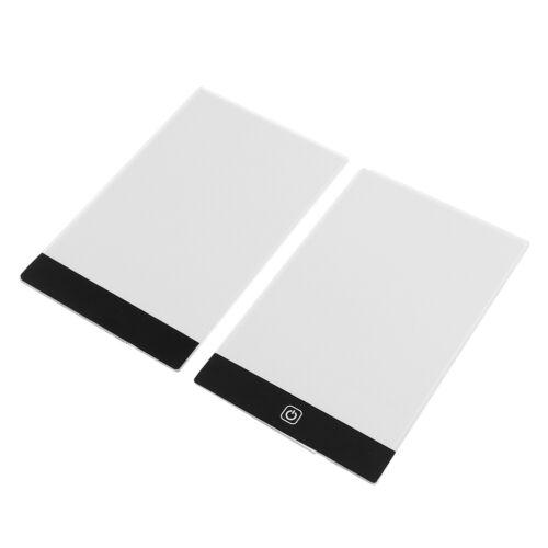 A5 LED Art Stencil Board Light Box USB Tracing Drawing Table Adjustable Pad FF