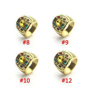73e680725fab5 Details about 1*THANOS Infinity Gauntlet POWER RING Avengers The Infinity  War Stones 8-12 Cool
