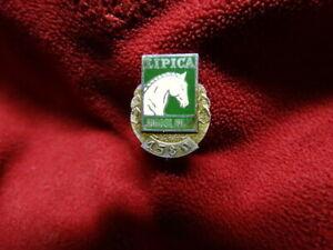 Rare Vintage Lipica Yugoslavia Jugoslavija 1580 Label Pin Lipizzan Horse Farm