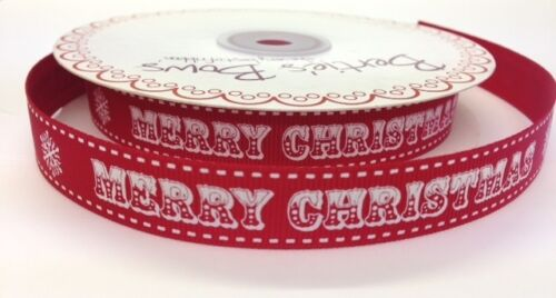 Bertie/'s Bows Christmas Ribbon on 3m Rolls