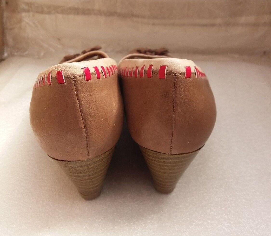 clarks mesdames tan tan tan tassel les escarpins wedge talon de chaussures en cuir  d 6cf930