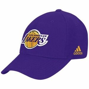 Adidas-Los-Angeles-Lakers-Cap-Structured-Style-Adjustable-Wool-Hat