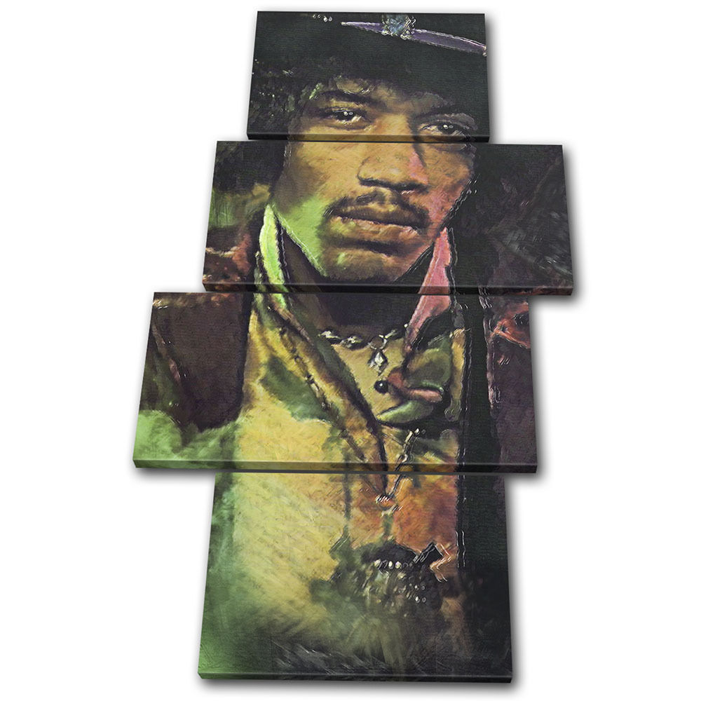 Iconic Celebrities Jimi Abstract MULTI TELA parete arte foto stampa stampa stampa 3b3b25
