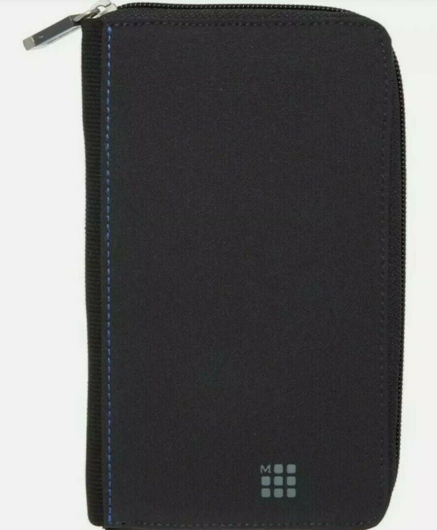 MOLESKINE Black textile Zip Wallet- brand new with tags