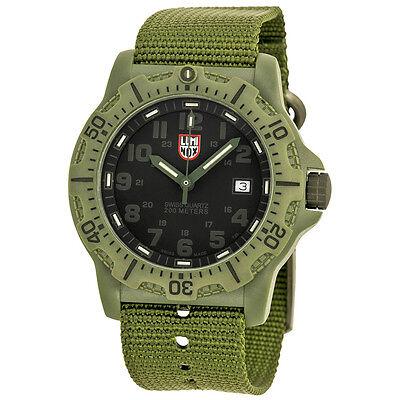 Luminox Black OPS Carbon 8800 Black Dial Green Nylon Strap Mens Watch SU8817.GO