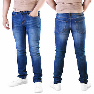 9a28369e4cb07 Mens Slim Fit Jeans Skinny Pants Super Stretch Denim Designer ...
