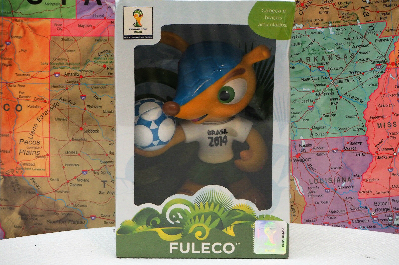 NEW FULECO Official Mascot FIFA World Cup 2014 Brasil Licensed Product
