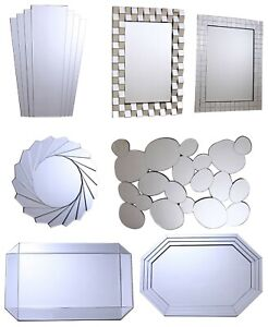 Details about Buy Modern Contemporary Decor Living Room, Bedroom, Hallway,  Office Wall Mirrors
