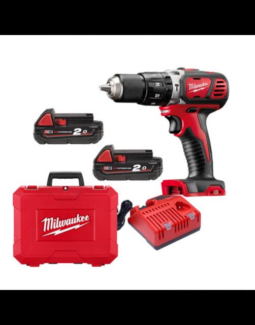 Milwaukee Perceuse avec Percussion 18v 2 Batteries Modèle M18bpd-202c