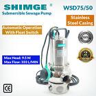Shimge Stainless Steel Submersible Sewage Pump WSD75/50
