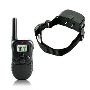 998D-1-300M-Shock-Vibra-Remote-Control-LCD-Electric-Dog-Training-Collar-FH