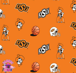 140226251 oklahoma state university osu cowboys fleece fabric ncaa by the yard ebay. Black Bedroom Furniture Sets. Home Design Ideas