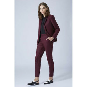 Image Is Loading Wine Red Slim Fit Women Business Suits Formal