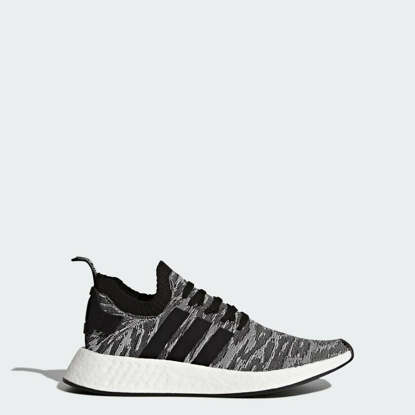 New Adidas Nmd R2 Pk Black Primeknit Running Shoes By9409 Size 13