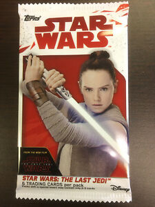STAR-WARS-THE-LAST-JEDI-Topps-Trading-Cards-1-Pack