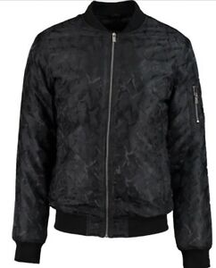 Pattern Medium Size Bomber Born Rich Camo Jacket Black qHn1UvO