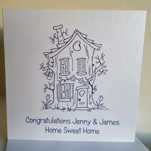 New Home Card Old House Personalised Handmade Any Wording