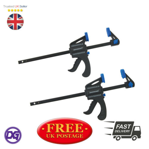 150 mm 2 Silverline Quick Grip Mini Modelling Ratcheting Vice Bar vitesse Clamps