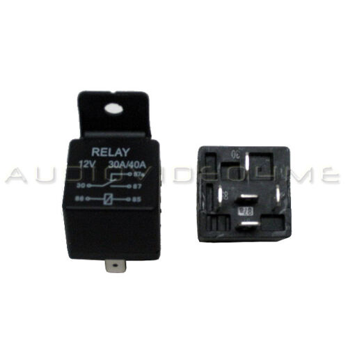 10 PACK 12 VOLT 30//40 AMP BOSCH//TYCO TYPE SPDT AUTOMOTIVE RELAY+HARNESS SOCKETS